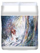 Under The Waterfall Duvet Cover