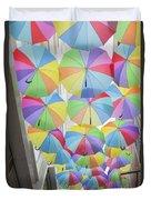 Under Umbrellas Duvet Cover