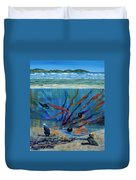 Under Water - Point Of View Duvet Cover