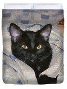 Undercover Kitten Duvet Cover