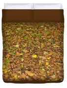 Undergrowth, Leaves Carpet. Duvet Cover