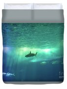 Undersea Scene Background Duvet Cover