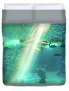Underwater Background With Sunbeams Duvet Cover