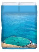 Underwater Crater In Galapagos Duvet Cover