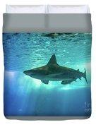 Underwater White Shark Duvet Cover