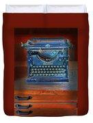 Underwood Typewriter Duvet Cover by Dave Mills