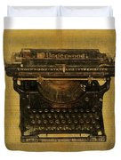 Underwood Typewriter On Text Duvet Cover