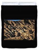 Unearthly World - Death Valley's Badlands Duvet Cover