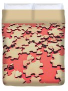Unfinished Hearts Duvet Cover