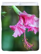 Unfolding Of A Hibiscus Duvet Cover