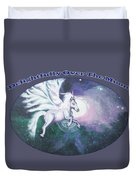 Unicorn And The Universe Duvet Cover