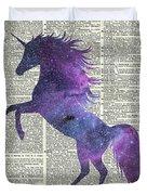 Unicorn In Space Duvet Cover