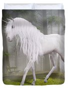 Unicorn In The Forest Duvet Cover