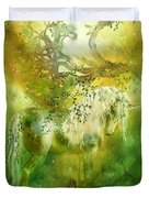 Unicorn Of The Forest  Duvet Cover