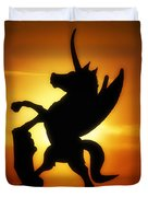 Winged Unicorn Sentinel  Duvet Cover