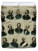 Union Commanders Of The Civil War   Duvet Cover