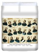 Union Commanders Of The Civil War Duvet Cover