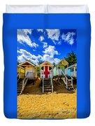 Union Jack Beach Hut 2 Duvet Cover