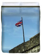 Union Jack Over The Castillo Duvet Cover