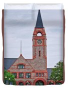 Union Pacific Railroad Depot Cheyenne Wyoming 01 Duvet Cover