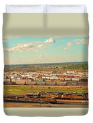 Union Pacific's Bailey Yard Duvet Cover