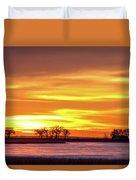 Union Reservoir Sunrise Feb 17 2011 Canvas Print Duvet Cover