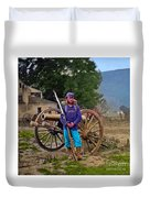 Union Soldier With Cannon Duvet Cover