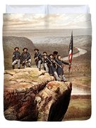 Union Soldiers On Lookout Mountain Duvet Cover
