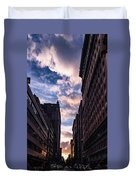 Dusk Over A Union Square Coffee Duvet Cover