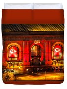 Union Station In Chiefs Red Duvet Cover