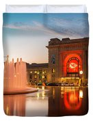 Union Station Kansas City Chiefs Duvet Cover