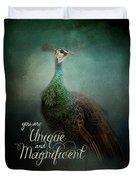 Unique And Magnificent - Peacock Art Duvet Cover