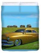 Unique Gold Street Rod Duvet Cover