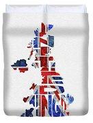 United Kingdom Typographic Kingdom Duvet Cover
