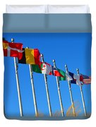 United We Stand Flags Art Duvet Cover