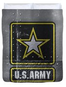 United States Army Logo On Steel Duvet Cover