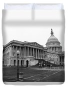 United States Capitol Building 2 Bw Duvet Cover