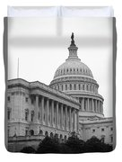 United States Capitol Building 4 Bw Duvet Cover