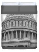 United States Capitol Building Bw Duvet Cover