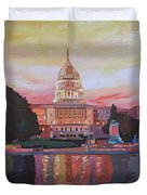 United States Capitol In Washington D.c. At Sunset Duvet Cover