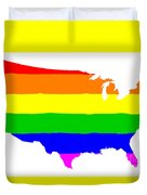 United States Gay Pride Flag Duvet Cover