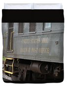 United States Mail Railway Post Office Box Car Duvet Cover