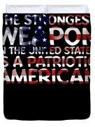 United States Patriotic American Duvet Cover