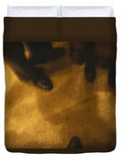 United States People Feet At A Party Duvet Cover
