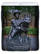 United States War Dog Memorial Duvet Cover