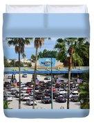 Universal Florida Parking Entrance Duvet Cover
