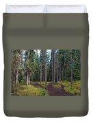 University Of Alaska Fairbanks Trail System Duvet Cover