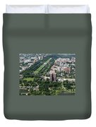 University Of Chicago Booth School Of Business And Midway Plaisance Park Aerial Photo Duvet Cover