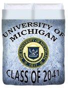 University Of Michigan Class Of 2041 Duvet Cover