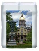 University Of Notre Dame Main Building Duvet Cover